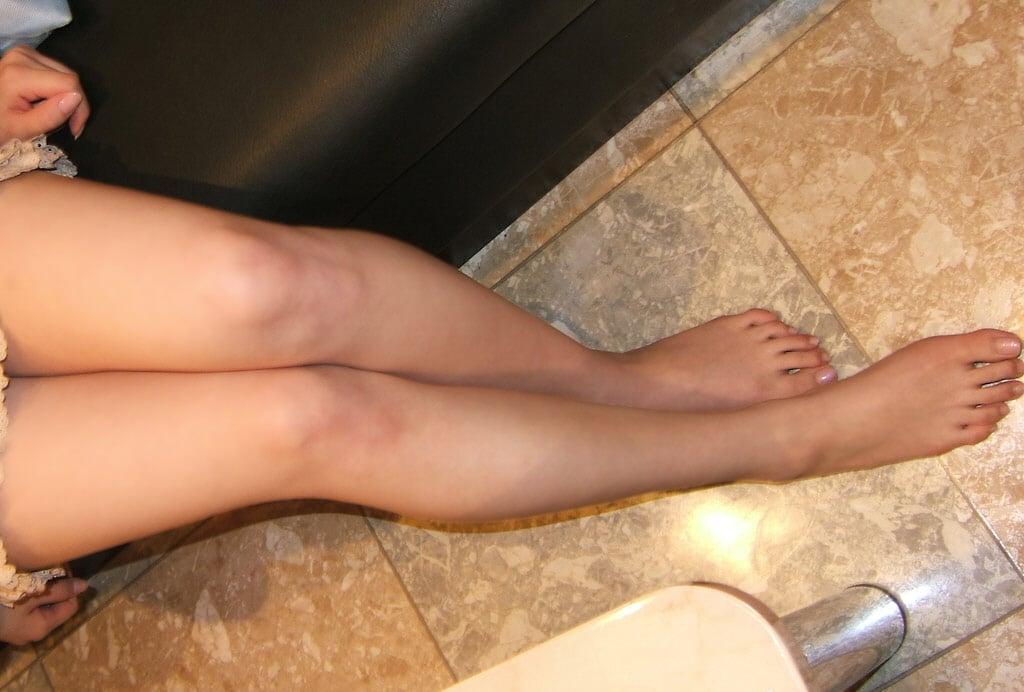 素足美脚を撮ってみた